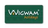 Wigwam Holidays Logo - With Drop Shadow (for use on photographic or multi-toned background)